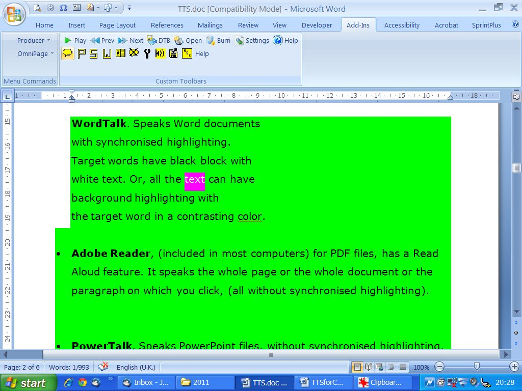 Ms Word Text Background Color