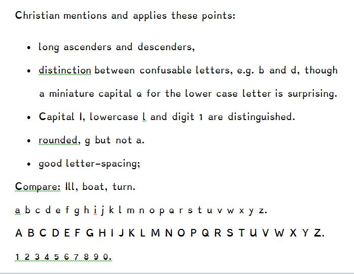 Typefaces for dyslexia | BDA Technology