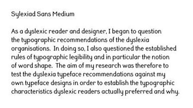 Typefaces for dyslexia | BDA Technology