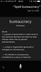 siri spelling bureaucracy