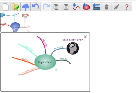 Mind map in Connected Mind extension