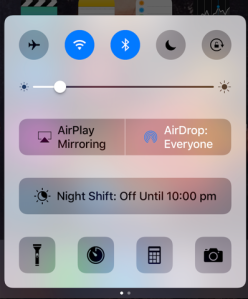 ios quick-access menu